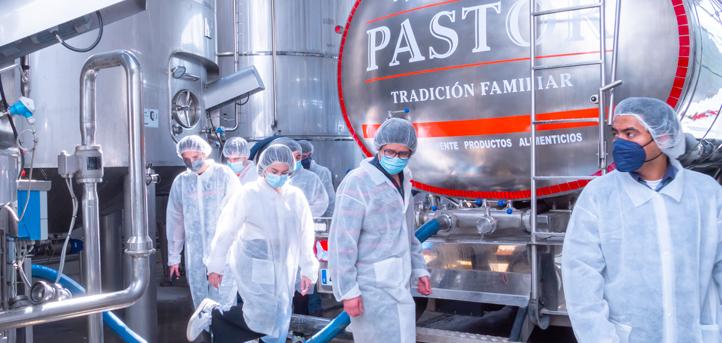 Los alumnos del grado en Ingeniería de las Industrias Agrarias y Alimentarias efectuaron una visita a la fábrica de El Buen Pastor