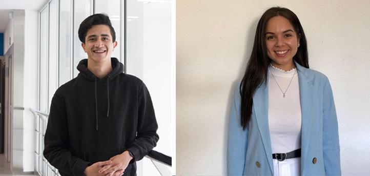 Andrea Godoy y Leonardo Galeano del grado en Ingeniería Informática, desarrollan un TFG destinado a optimizar procesos de FUNIBER
