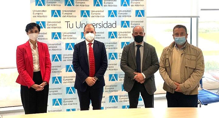 El director de AMPROS y su responsable de Empleo se reunieron con el rector de UNEATLANTICO para identificar proyectos comunes