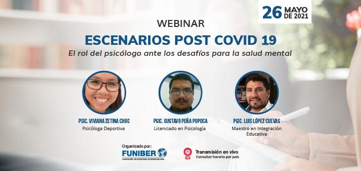 UNEATLANTICO organiza el webinar «Escenarios post COVID 19. El rol del psicólogo ante los desafíos para la Salud Mental»