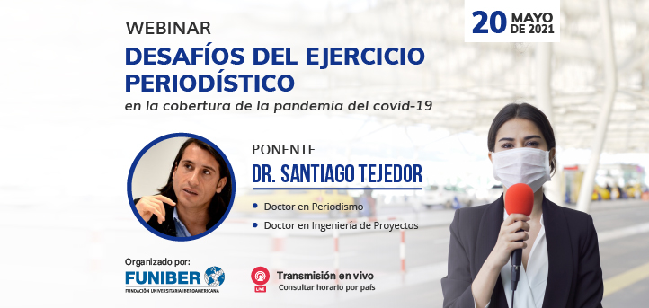 UNEATLANTICO organiza el webinar «Desafíos del ejercicio periodístico en la cobertura de la pandemia del COVID-19»