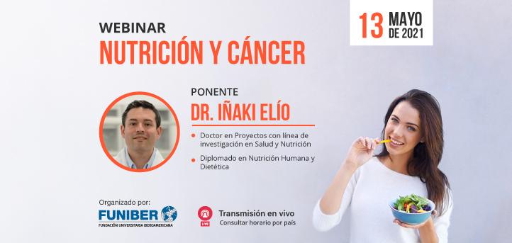 """El doctor Iñaki Elío, docente y director académico del grado en Nutrición Humana y Dietética, impartirá el webinar """"Nutrición y cáncer"""""""