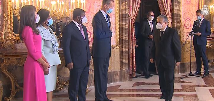 El presidente de FUNIBER acudió a la recepción real en honor al presidente de Angola, país en el que se inaugurará una nueva universidad