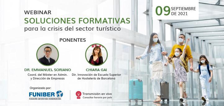 UNEATLANTICO organiza el próximo 9 de septiembre el webinar «Soluciones formativas para la crisis del sector turístico»